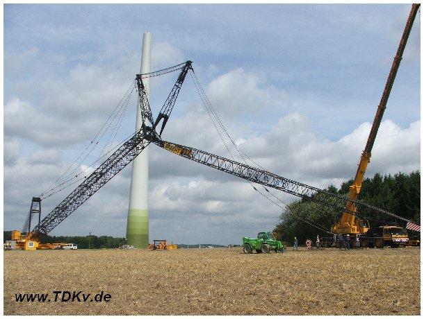 Gottwald AK 450 von Bracht im Windpark Detmold